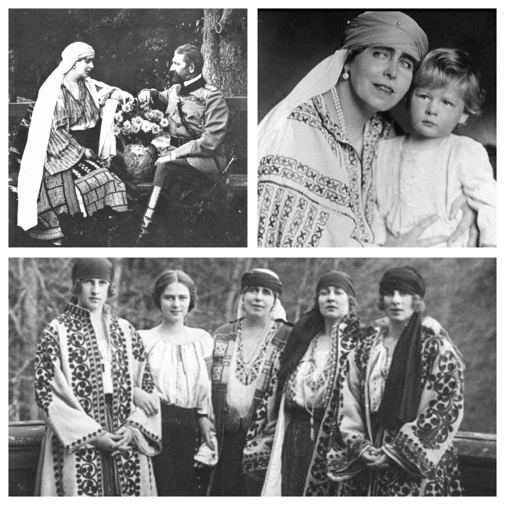 1. Queen Marie and King Ferdinand (left). 2. Queen Marie with her grandson, young King   Michael of Romania (right).3. Queen Marie (middle) with her daughters - Irene of Greece (Duchess of Aosta),PrincessIleana (Archduchess of Austria), PrincessMarioara (Queen of Yugoslavia) andPrincess Elena (Queen Elena of Romania).