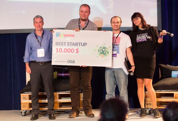 Axo Suits exosketenon wins @ Startup Spotlight