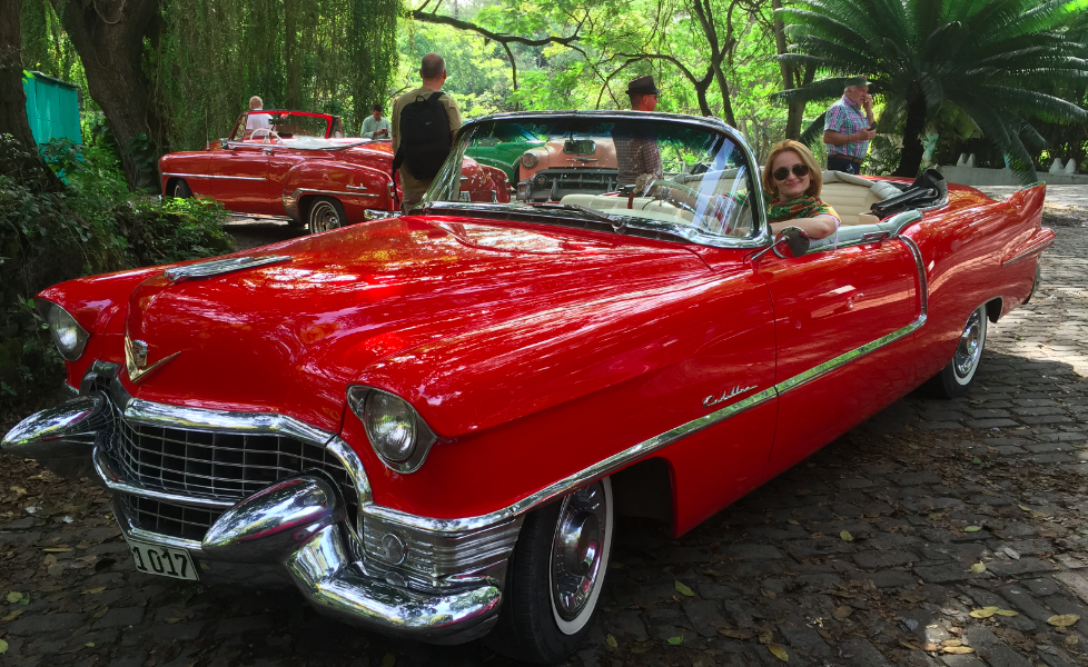 A red cadillac with a touchy story.
