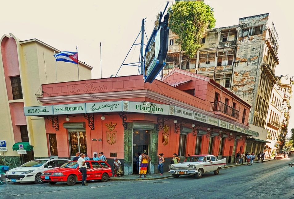 El Floridita, the cradle of daiquiri,as it you can see it today (Date: January 2015)