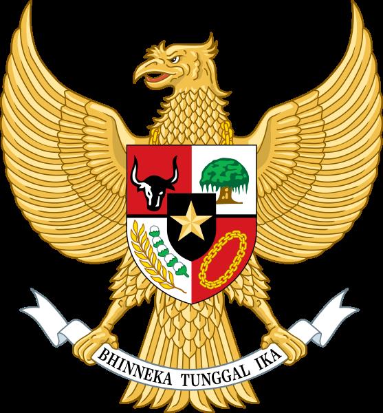 Garuda as represented today on Indonesian's national flag.