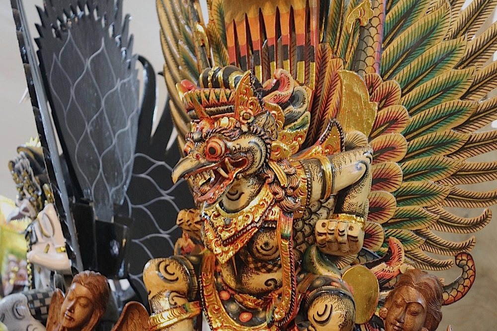 Another painted wood carving of Garuda