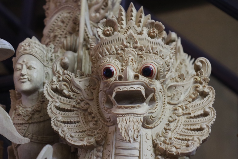Another representation of Garuda - wood carving