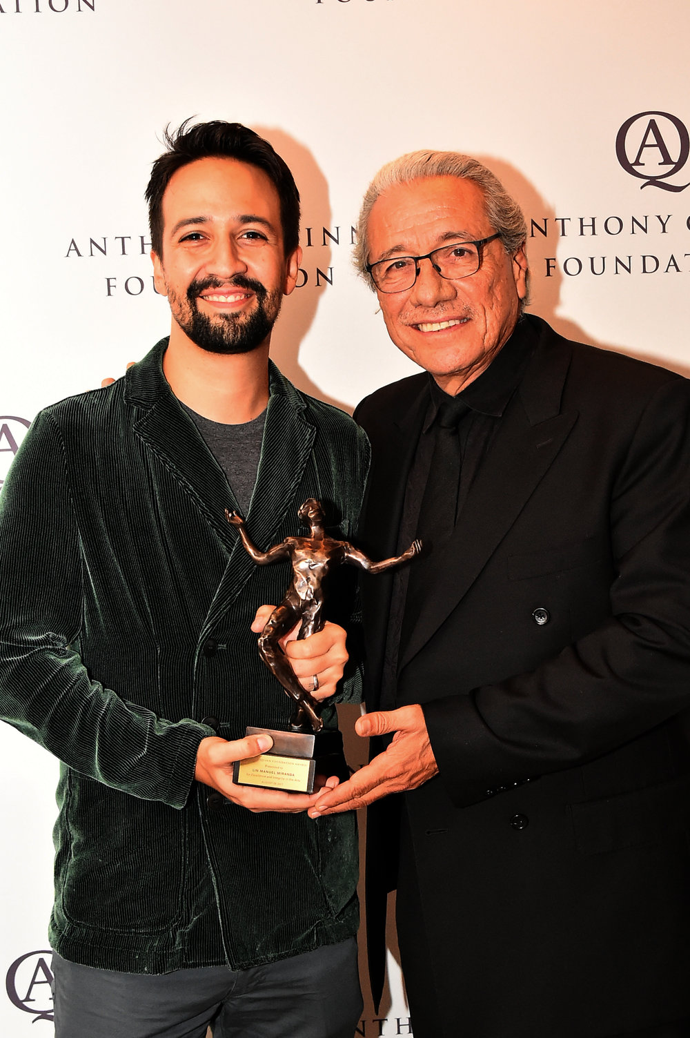 The Anthony Quinn Foundation AwardThe Anthony Quinn Foundation Award is presented to an individual who has made a significant impact in the arts, or their development, furtherance, and support.   -