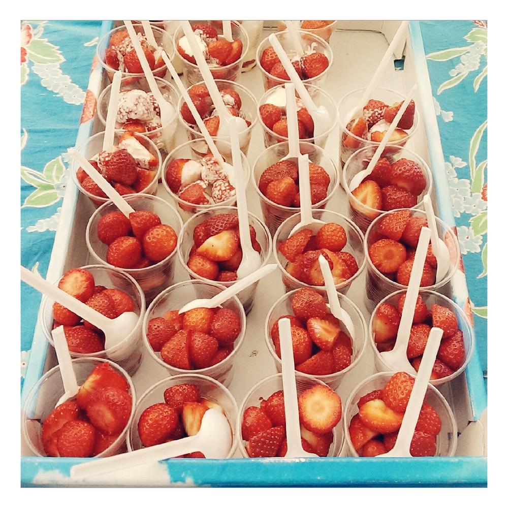 strawberries - rubelle