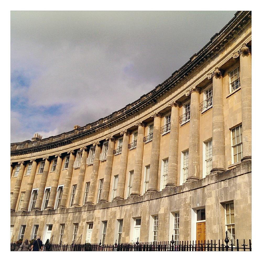 Bath, Royal crescent, rubelle