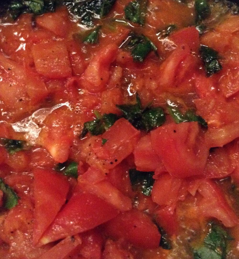 Ashitaba tomato sauce