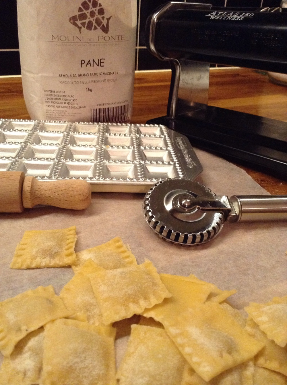 The making of ravioli