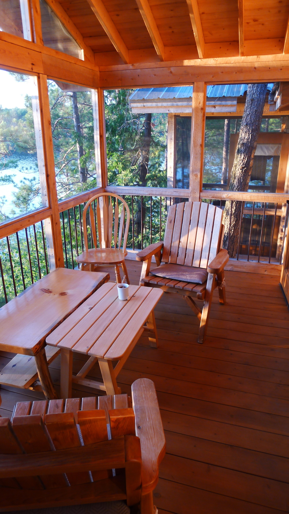 Patio of our cottage in French River