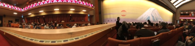 Hanamichi and stage