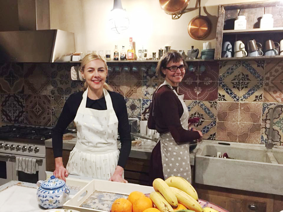 Prunellia & Gentiane cooking for the family this winter in Ragusa, Sicily.