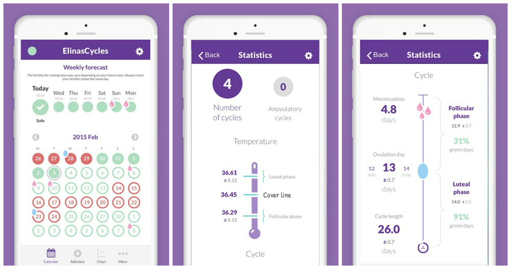 NaturalCycles App Calendar Statistics