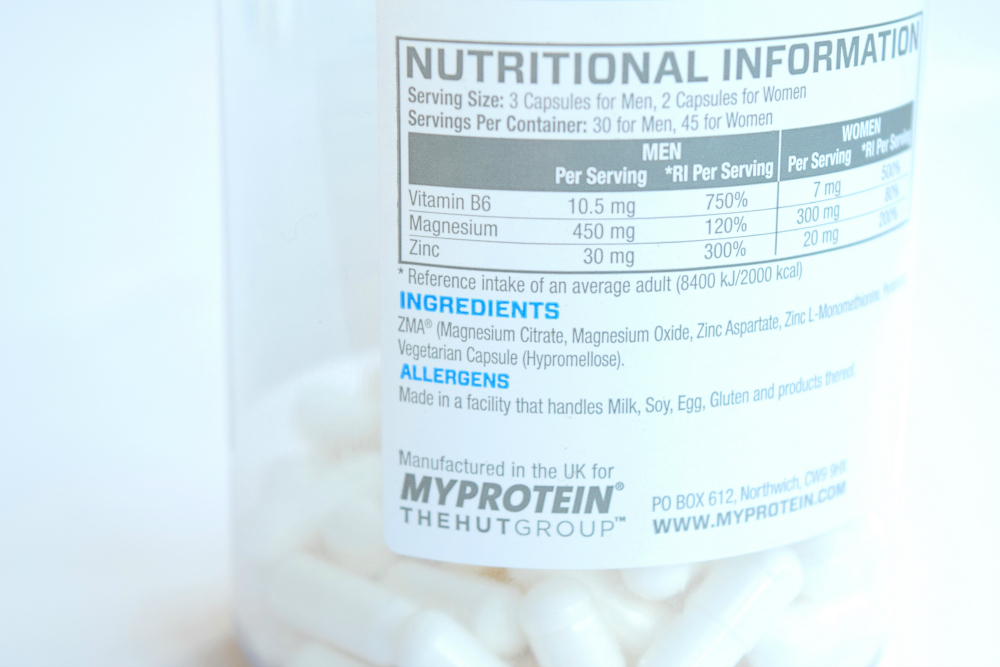 ZMA-Ingredients-Nutritional-Information
