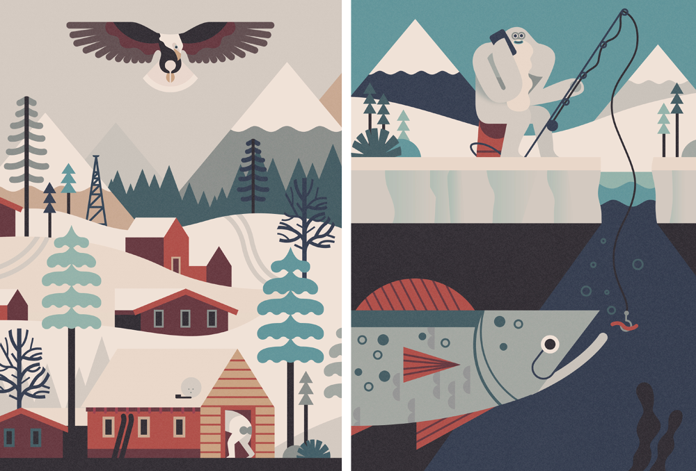 Yeti-Eagle-Fishing-Fish-Mountains-Snow-Village-Owen-Davey-Illustration_1000.png