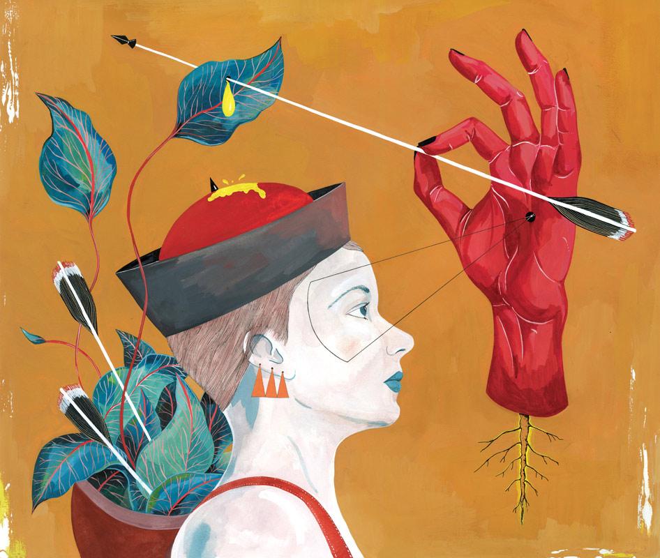 Fata Morgana - watercolor and gouache on paper