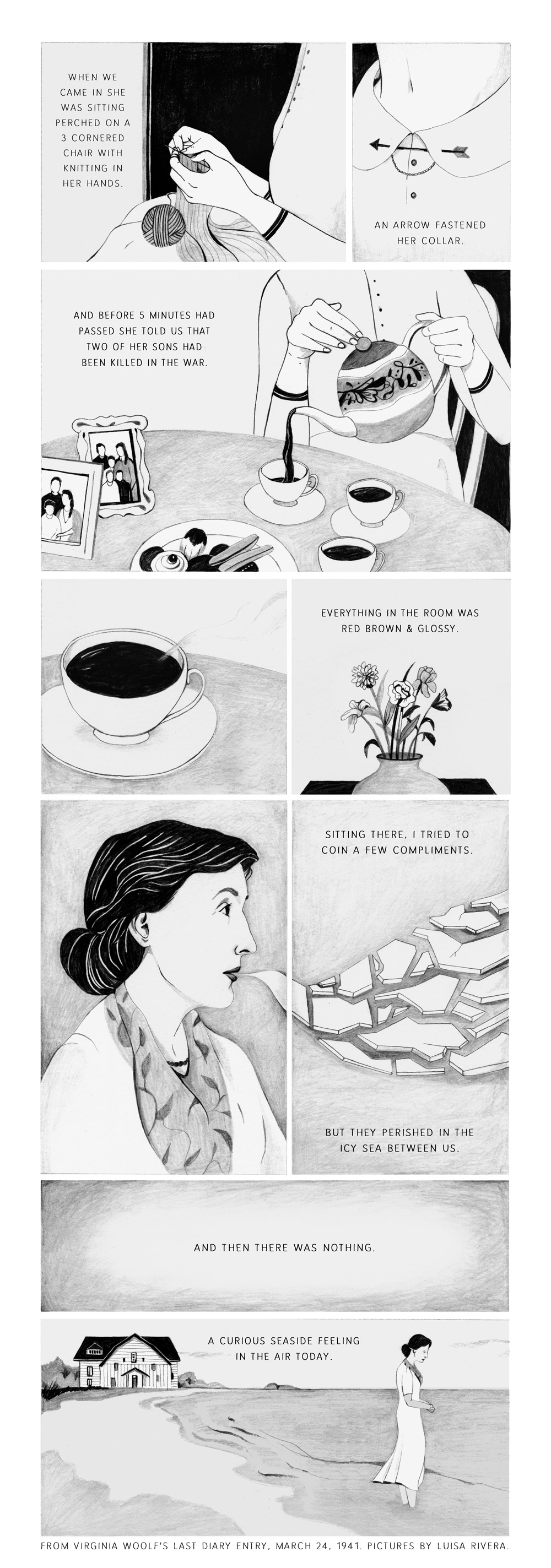 Virginia Woolf's Diary - Collaboration for Campfire Comics and Stoires