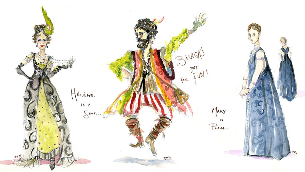 concept designs from  Natasha, Pierre , and the Great Comet of 1812