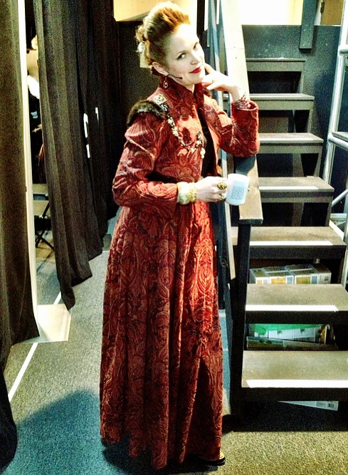 Grace McLean in costume