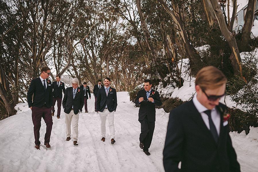 "Megan + Gus' ""Modern Romantic"" themed wedding - Falls Creek, VIC"