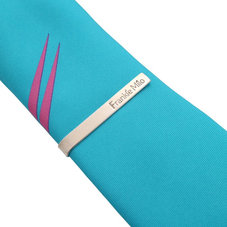 76b2945dddd7 Sterling Silver Tie Bar (Bright) — Bright and Bold Ties, Wallets and ...