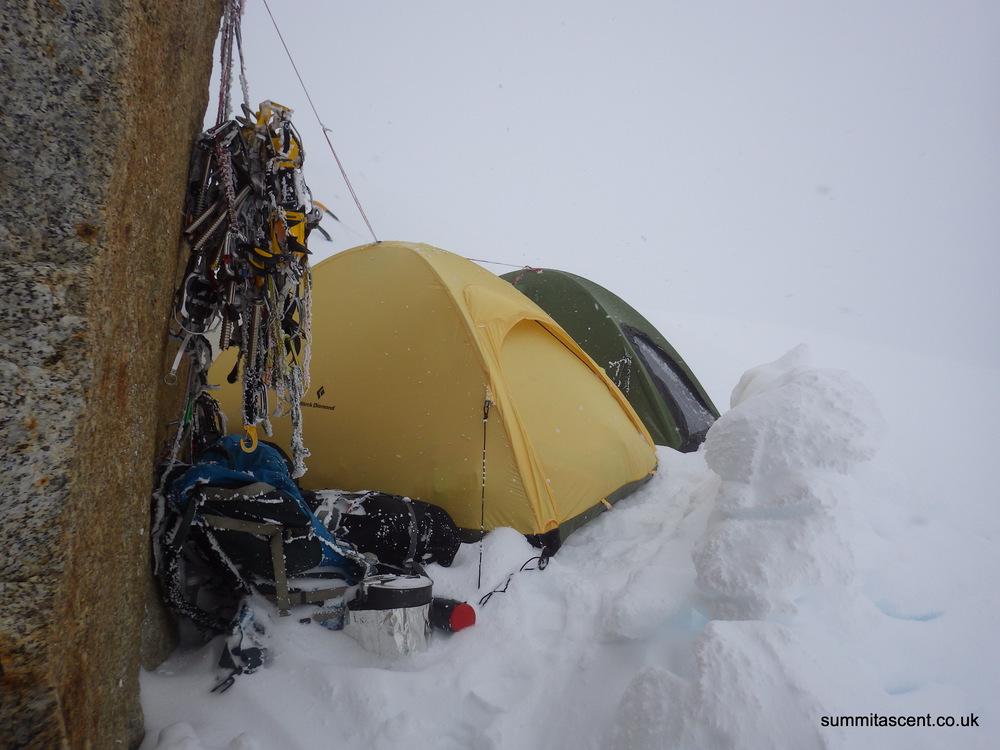 Bivvy, West Ridge, Mount Hunter, Central Alaskan Range