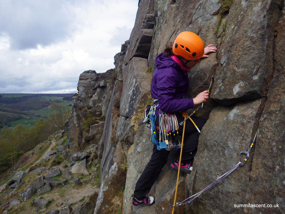 Learning to Lead, Froggat Edge, Peak District