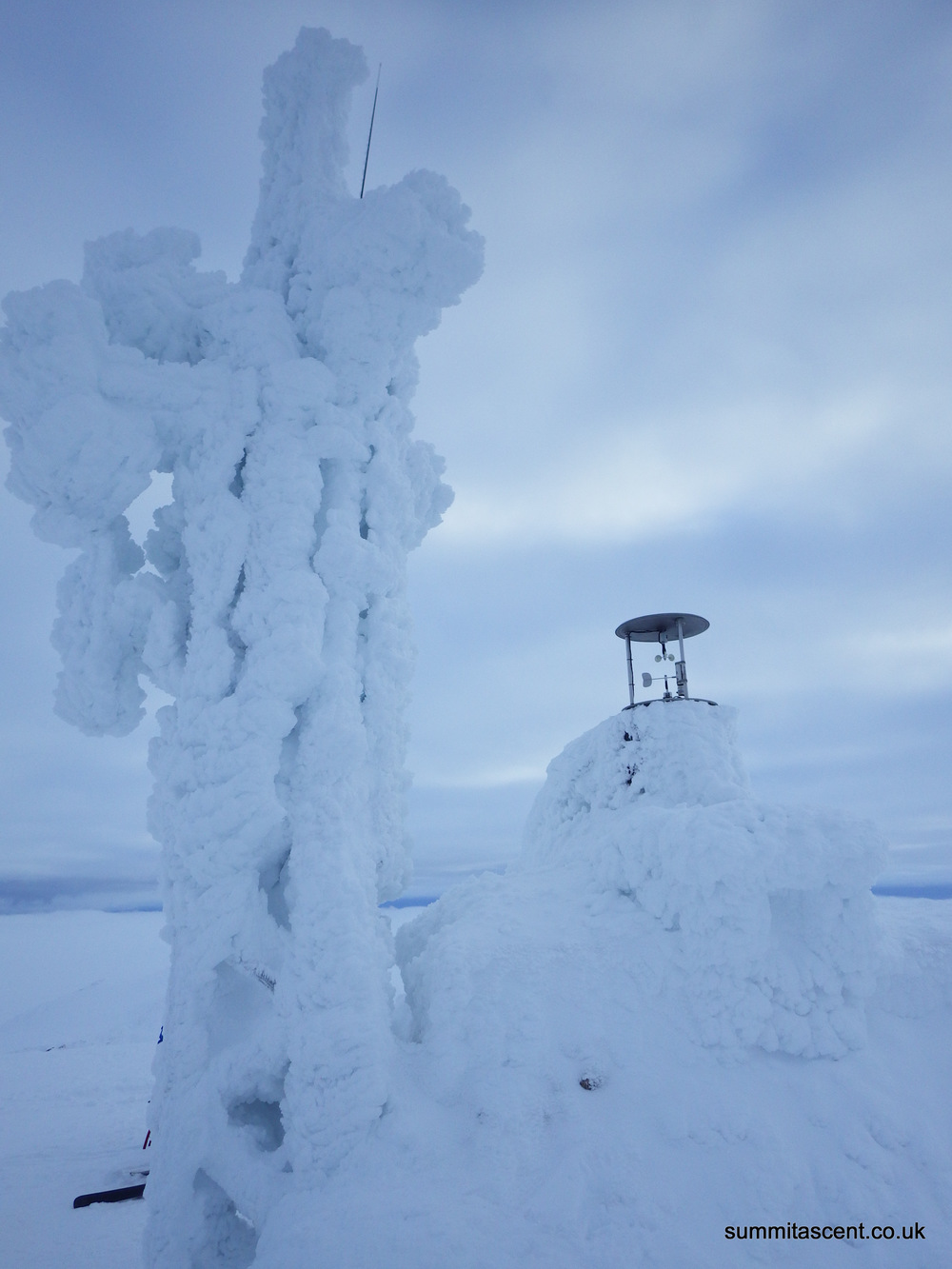 Cairngorm summit weather station, looking well rimed up