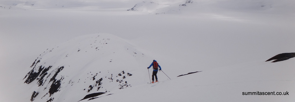 Ski Touring on Ivy Ridge