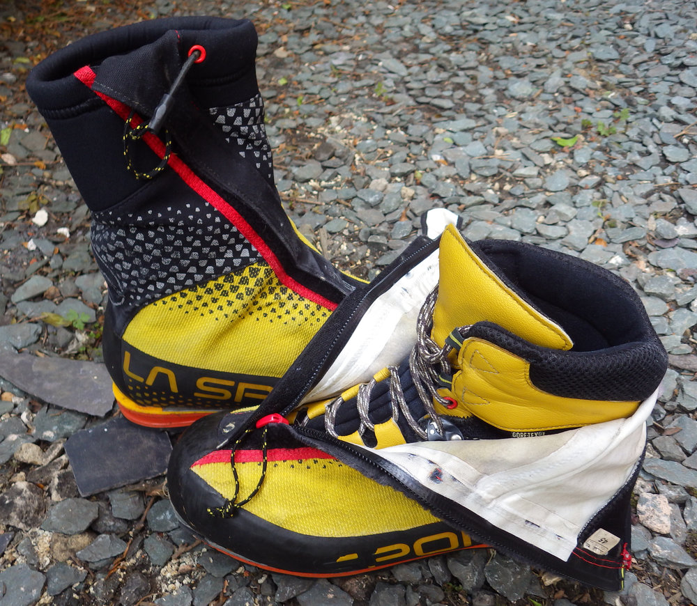 A typical B3 boot with integral gaiter