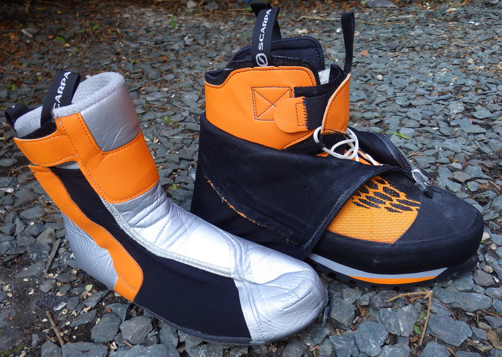 A double boot,: inner on the left, and outer on the right