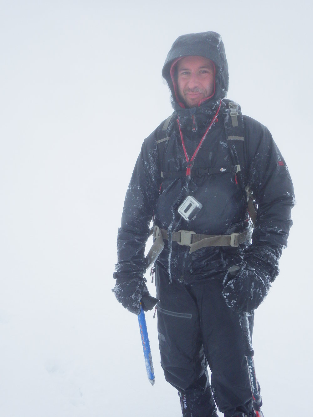 Rimed up- whilst navigating in a 'whiteout'