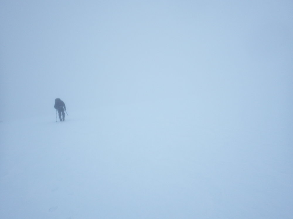 navigating in a whiteout