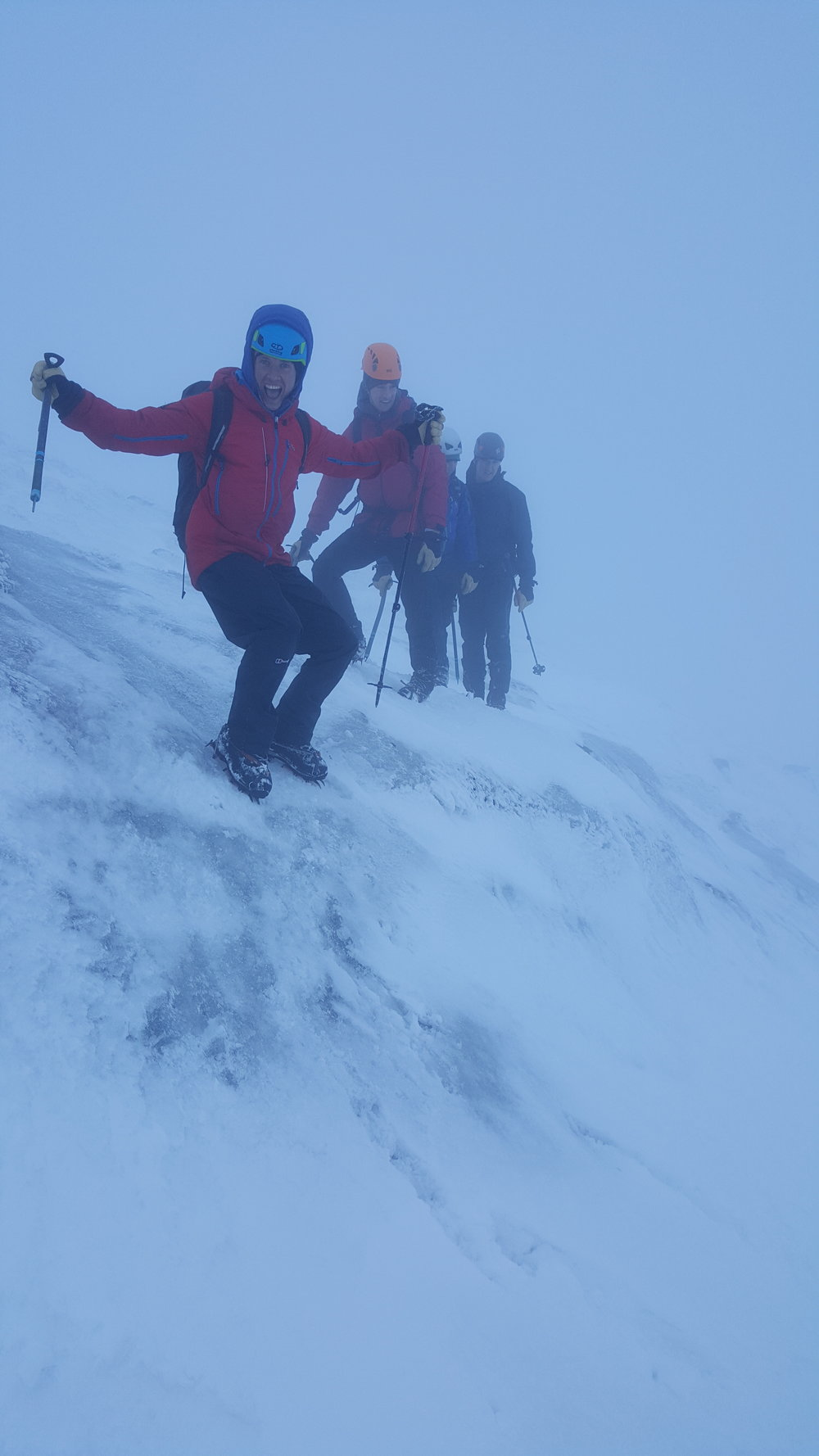 Danny learning to trust his crampons!