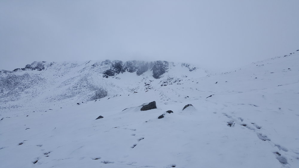 Coire nan Lochain on the walk out today