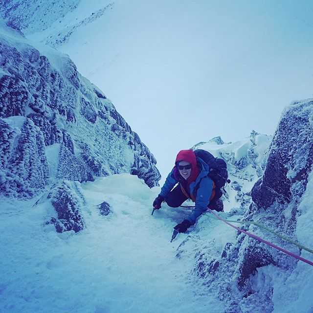 In working for @glenmorelodge this week on a Winter Climbing Course. Stellar weather on the hill, and some mixed mileage for the guys today - Ewen Buttress and Ventilator in Lochain.  #scotwinter #winterclimbing @ami_professionals
