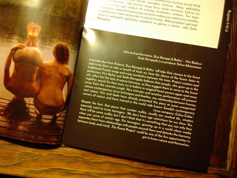 Festival brochure.