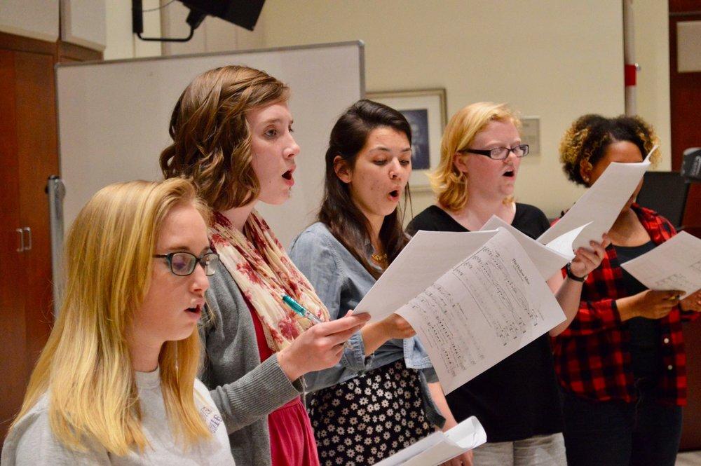 - Singing at Furman University.