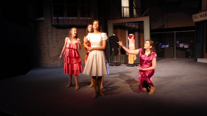 Performing in West Side Story