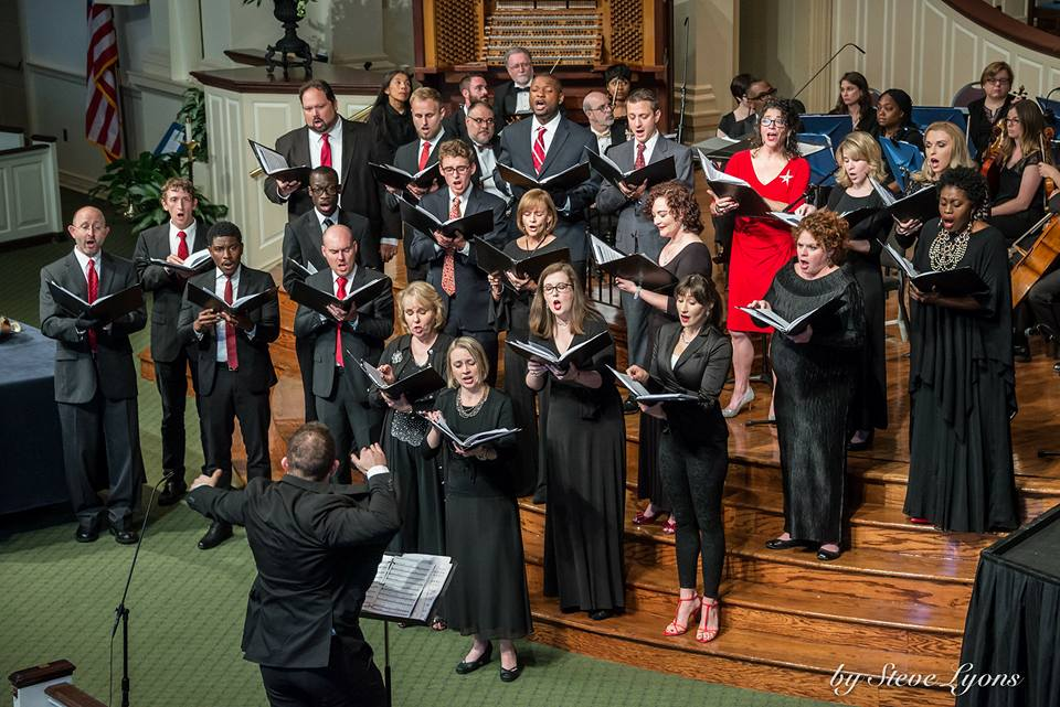 Singing with the Peachtree Presbyterian Church Chamber Chorale at the American Pops Concert