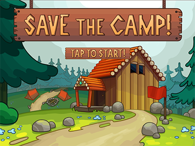 Save the Camp!  -  Tiny Hearts    Assets and development pieces for  Save the Camp!  Developed by Tiny Hearts for Meridian Credit Union and The Learning Partnership Canada.