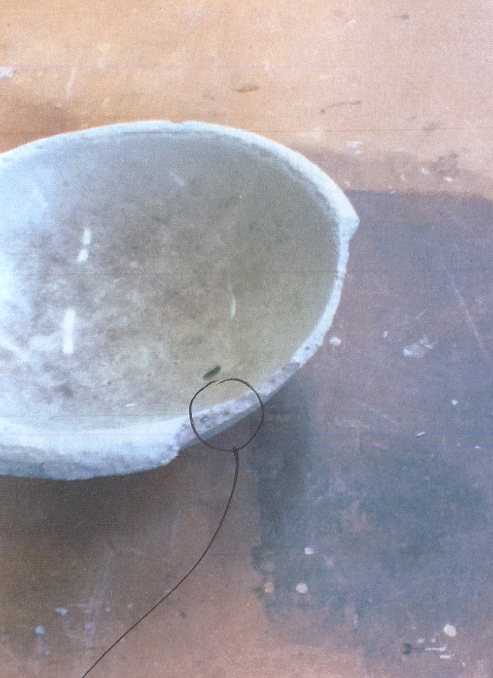 Unsuccessful cast of concrete because the interior mould and exterior mould didn't account for the needed wall thickness