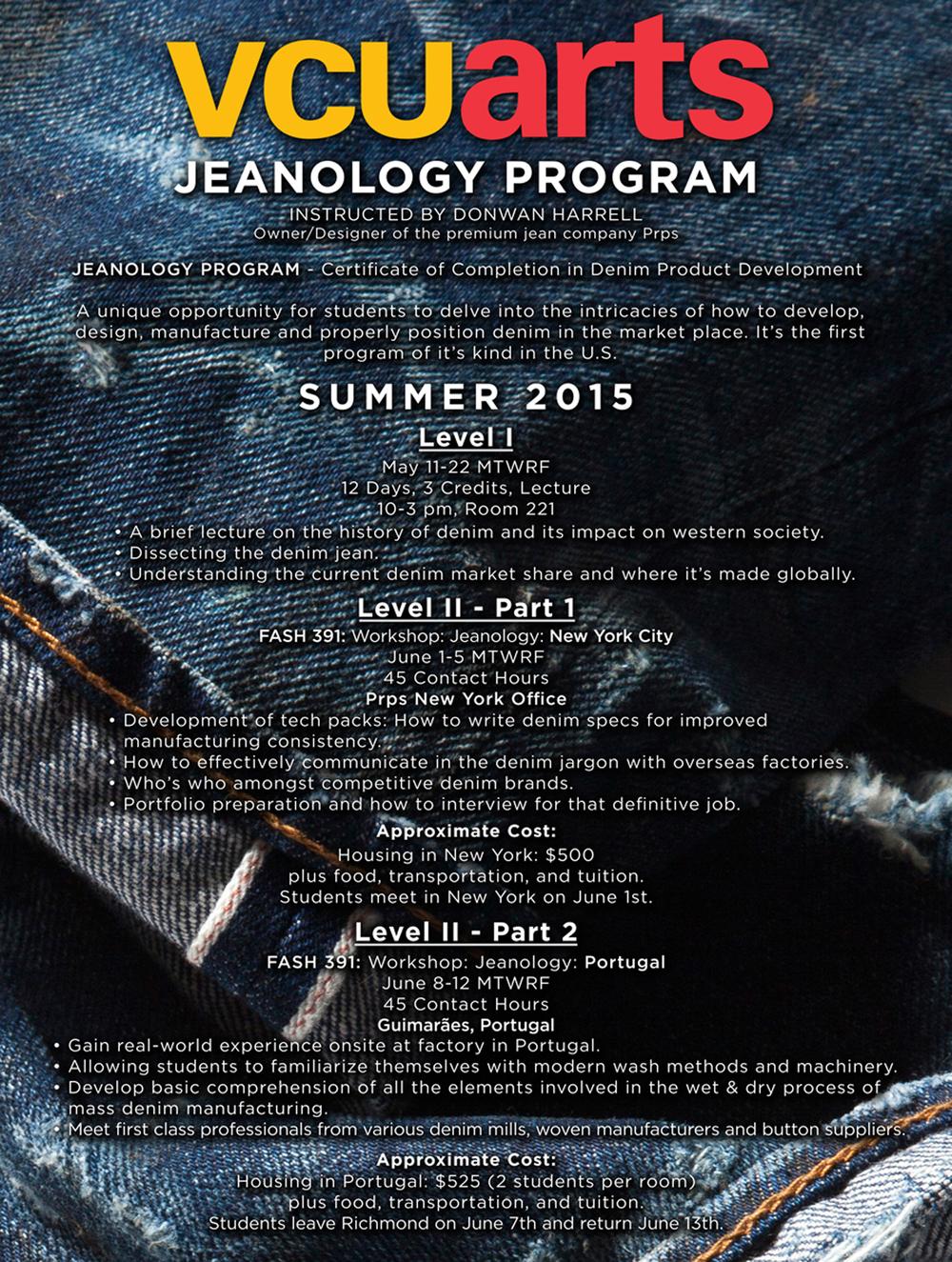 Jeaneology flyer
