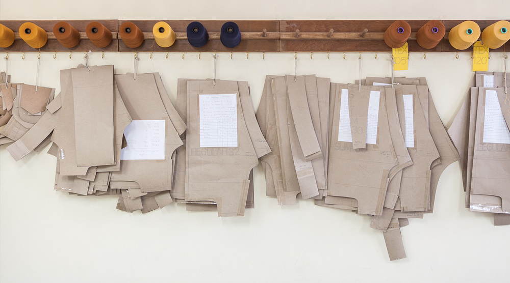 Patterns hanging in the workshop. Photography by Shovan Gandhi for KORRA: