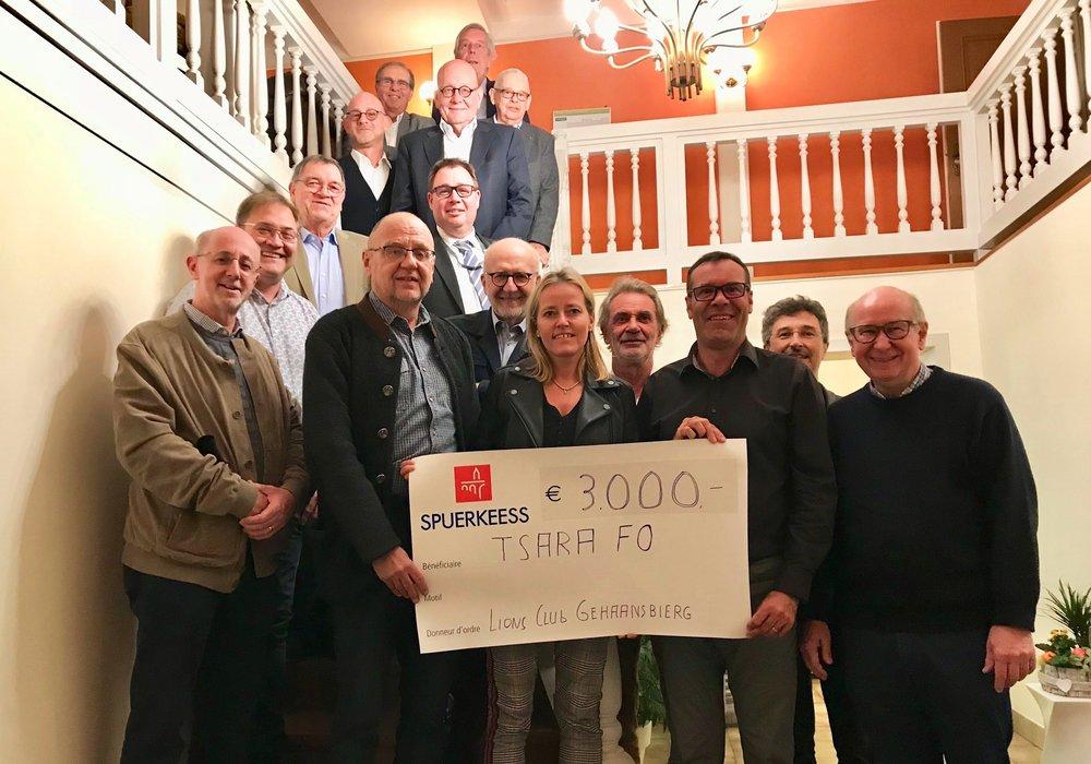 """Avec un grand merci au """"Lions Club Gehaansbierg"""" pour leur don généreux en faveur de notre ONG TSARA FO qui a été transmis le 03 octobre 2018"""
