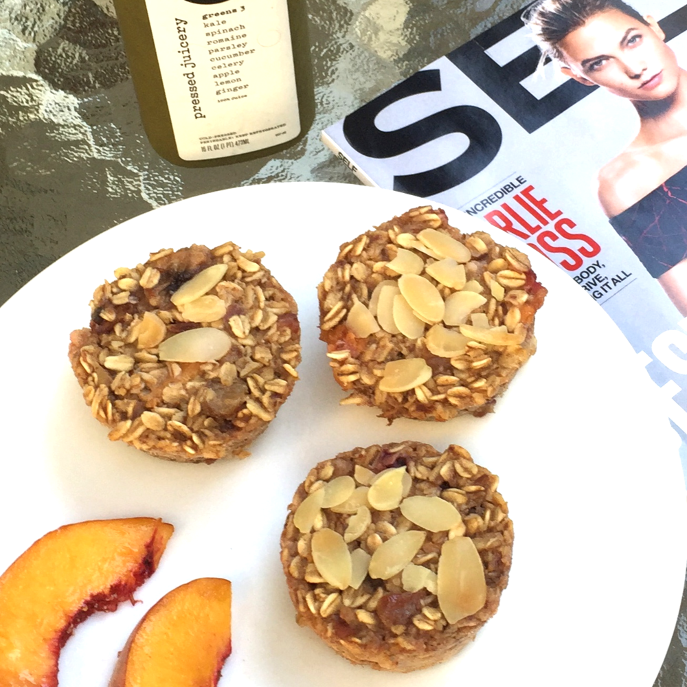 Bake once, eat all week: almond peach baked oatmeal | Bellini Bootcamp