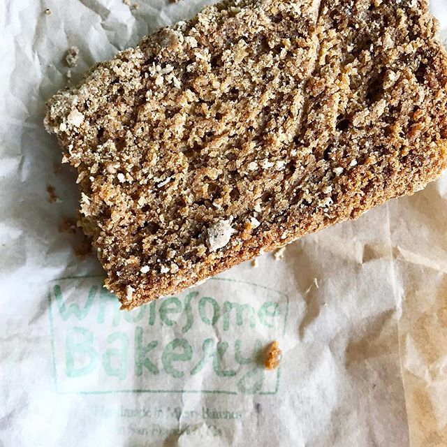 I've been dying to try @wholesomebakery for months and let's just say it did NOT disappoint. 🍰 This chai loaf was the perfect snack on a rainy afternoon. AND all their goodies are vegan, gluten-free, soy-free, guilt-free. Is it too soon to go back? 🤔 #sanfrancisco #sfeats #sffoodie