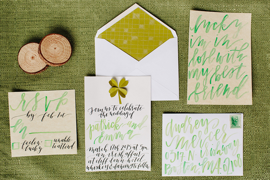 A St. Patrick\'s Day Inspired Wedding Invitation — Eleven + West