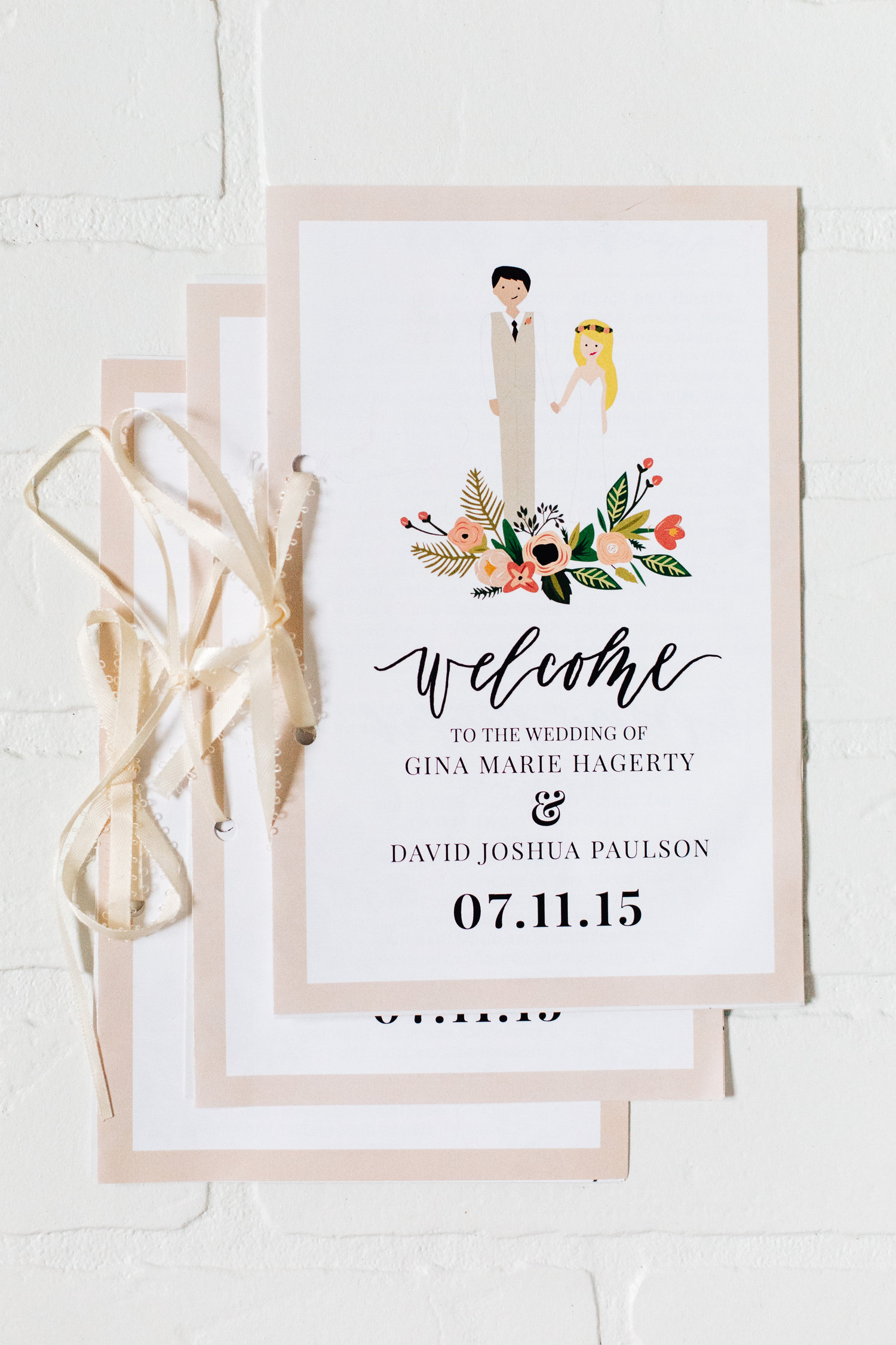 wedding programs and itineraries eleven west