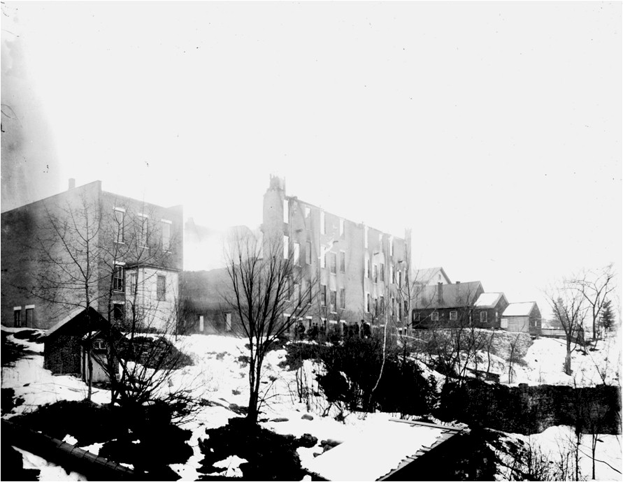 02 Fire, 1888, Center Street, rear of building, Simond's Block on west side of street.jpg
