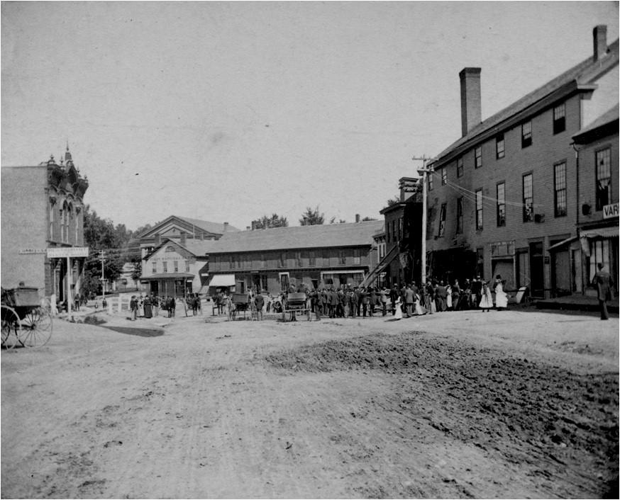 20 Center Street, August 26, 1892. Howe Scale building, boiler explosion (east side of street).jpg